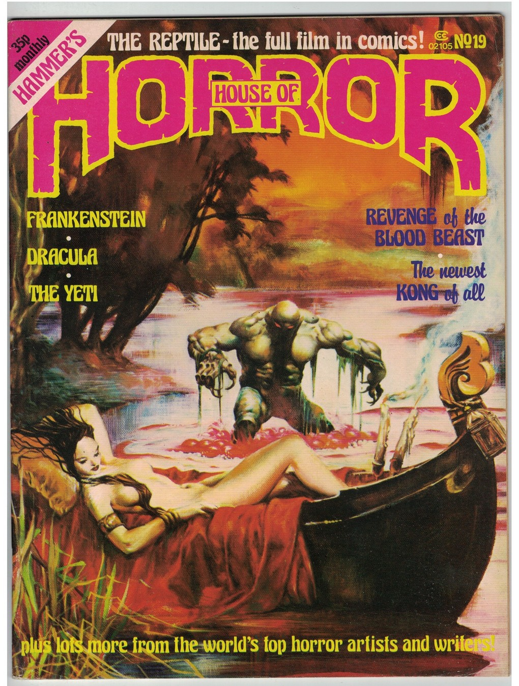 The House Of Hammer details about house of hammer 19 (house of horror) vf reptile,yeti